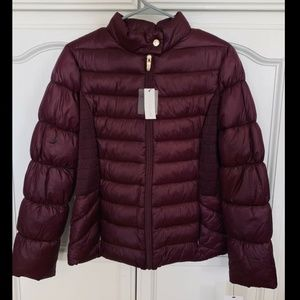 Via Spiga Stand Collar Packable Puffer Coat